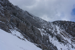 Ascent ridge from descent
