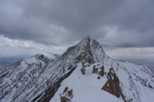 Final knife-edge to summit