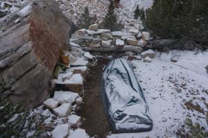 Camp post-snow
