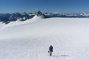Ascending from ice plain