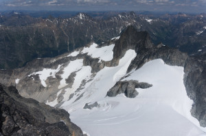 View down to Banded Glacier