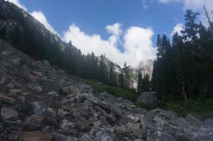 First boulderfield in Access Creek