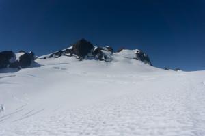 Upper glacier and summit
