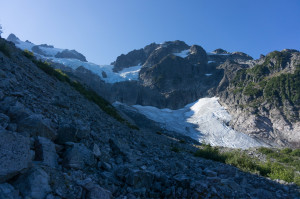 Pelion-Ossa saddle and low-lying glacier
