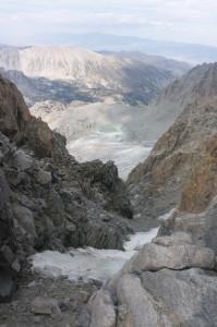 U-notch and Palisade Glacier