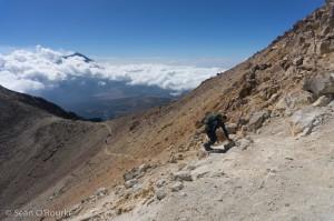Finishing the hard-pack sidehill