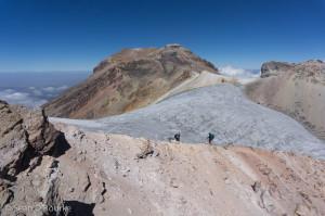 Glacier and summit