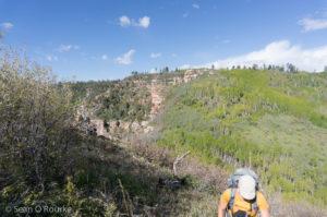Just below the trailhead