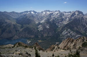 Twin Lake and Sawtooth from Robinson