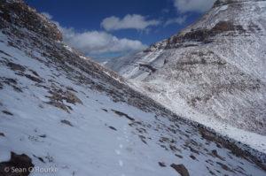 Climbers' trail and Gunsight Pass